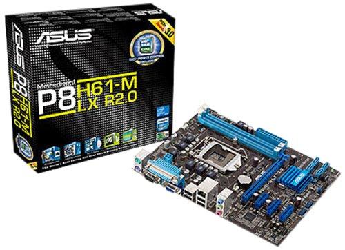 Asus P8H61-M LX3+ R2.0 Mainboard Sockel 1155 (Micro ATX, Intel H61, 2X DDR3 Speicher, 4X SATA II, 8X USB 2.0)