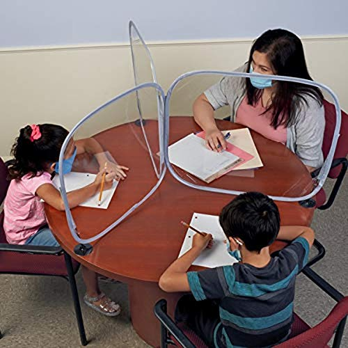 Excellerations - BARRIERT 3-Way Desktop Barrier – Student Germ Protection That Acts as a Sneeze Guard, Desk Shield, Personal Protection Screen or Desk Divider