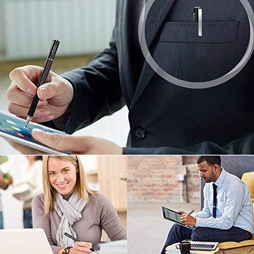 Mixoo Stift Präzision Disc Eingabestift Touchstift Stylus 2 in 1 Kapazitive Touchscreen Stift, kompatibel für Smartphones &Tablets (Schwarz)