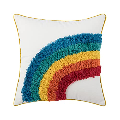 Moroccan Style Colorful Tufted Cushion Pillow Cover Handmade Throw Pillow Covers Home Sofa Decoration