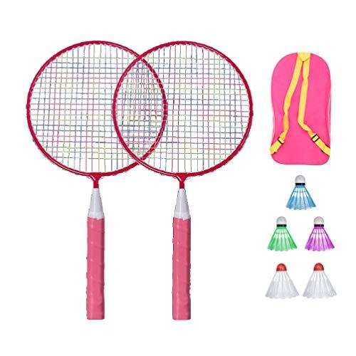 BESPORTBLE Badminton-Set für Kinder mit Schlägern Junior-Tennisschläger Spielen Strandspielzeug (Pink)