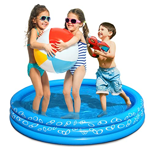 Jambo Kiddie Pool- Inflatable Swimming Pool for Kids, Toddlers, and Baby | Doubles as a Ball Pit & Dog Pool | Great Splash Pool Backyard Water Toys