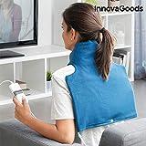 InnovaGoods IG812843 - Almohadilla Eléctrica para Cuello y Hombros, 40 x 40 cm, 60W, Azul