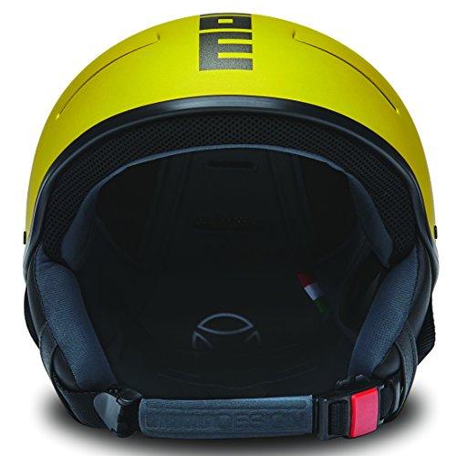 MOMO Design Force18, Casco Sci Unisex – Adulto, Giallo Opaco, L/XL (60-61 cm)