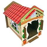 Croci C2021264 Gato de Cartón Casa Villa Color 42 x 35 x 50 cm