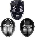 Zentoys Máscara de Juego de Calamar Squid Game Mask Máscara de Soldado 1 Pieza Cuadrado Círculo Cosplay Boss Accesorios de Halloween Fiesta Masquerade Props (Boss)