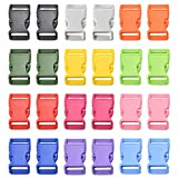 Multicolor Quick Side Release Buckles for Paracord Bracelets Pet Collar Belt Strap Craft Accessory (1'(25.5mm))