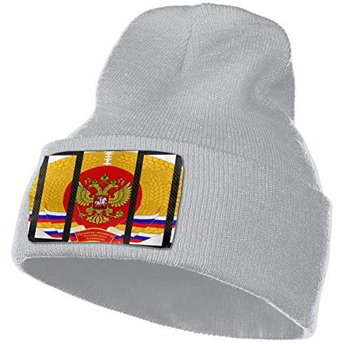 AEMAPE Escudo de la Bandera del Imperio Ruso Sombrero de Punto Unisex Gorras de Calavera de Moda Sombreros de Tejer