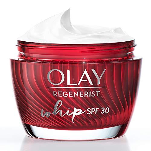 Olay Regenerist Whip Light as Air Anti-Aging Feuchtigkeitspflege für straffere Haut mit LSF30, Hyaluronsäure, 50 ml