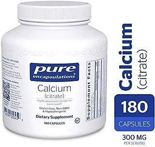 Pure Encapsulations - Calcium (Citrate) - Hypoallergenic, Highly-Absorbable Calcium Supplement - 180 Capsules
