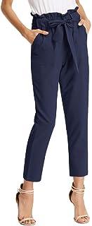 GRACE KARIN Pantalones Casuales de Cintura Alta de Mujeres