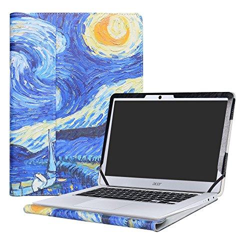Alapmk Specialmente Progettato PU Custodia Protettiva in Pelle Per 14' Acer Chromebook 14 CB3-431 Series Series Notebook,Starry Night