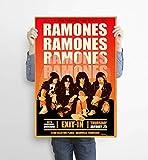 LKY Ramones Poster, Punk-Rock-Band Ramones Konzert-Poster,