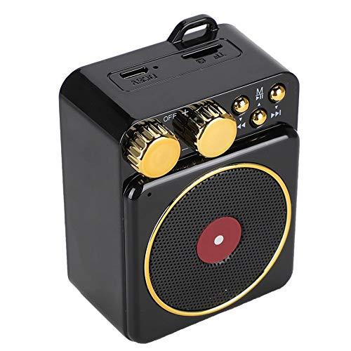 DC 37 V Retro Bluetooth 50 Lautsprecher Bluetooth Lautsprecher Smart Audio Unterstutzung FreisprechenFM RadioUSBTF Karte klassische Retro Mini Multifunktions Lautsprecher GeschenkSchwarz