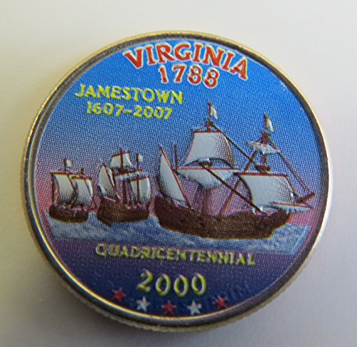 2000-Various-Mint-Marks-Virginia-State-Colorized-Quarter-Choice-Uncirculated