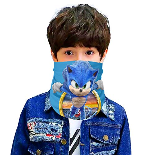 Sonic the Hedgehog Seamless Face Cover/Headband of boys/girs Scarf,Multi-Functional Full-Coverage Tube Bandanas5-One Size