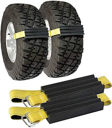 JXXU Schnee-Schlamm und Sand Reifen Streckverband, 2er-Set for Trucks und großen SUVs, Schnee-Traction Mat Alternative