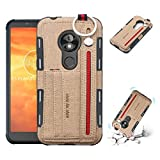 Ebogor pour pour Motorola Moto E5 Play Go Case, Texture de Tissu + TPU Coque de Protection Antichoc...