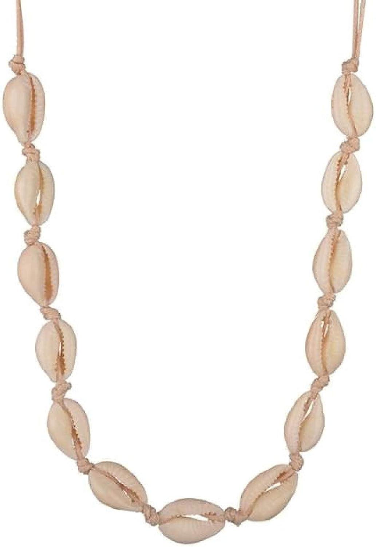 Bohemian Beach Tassel Necklace Natural Sea Shell Choker Chain Necklace Collar Boho Women Summer Beach Wholesale Girly