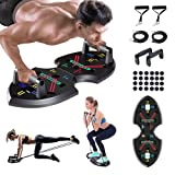 Upgraded Push Up board: Multi-function 20 in 1 Push up bar with Resistance Bands, Portable Home Gym, Strength training equipment, Push up handles for Perfect Pushups, Home Fitness for Men and Women.