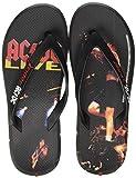 Rider ACDC Thong Ad, Chanclas Unisex Adulto, Color: Negro y Rojo 9335 0, 45/46 EU
