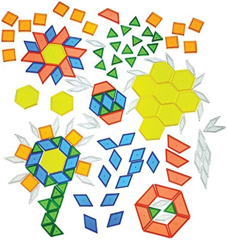 Tu satisfacción es nuestro objetivo CP Juguetes Translucent Pattern Blocks   147 Pc. Pc. Pc. Set by Constructive Jugarthings  ventas en línea de venta