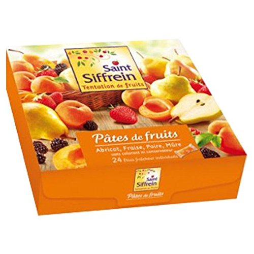 Saint Siffrein Gourmet French Fruit Jellies (Fruit Pastes) Apricot, Pear, Strawberry and Blackberry 24ct 25.4oz