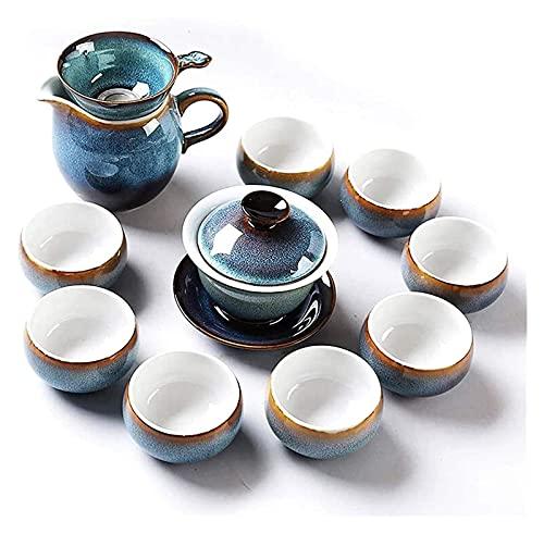 DWhui Cerámica Kung Fu Juego de té Tetera Viaje Juego de té Caja de Regalo Accesorios para el hogar Fabricante de té