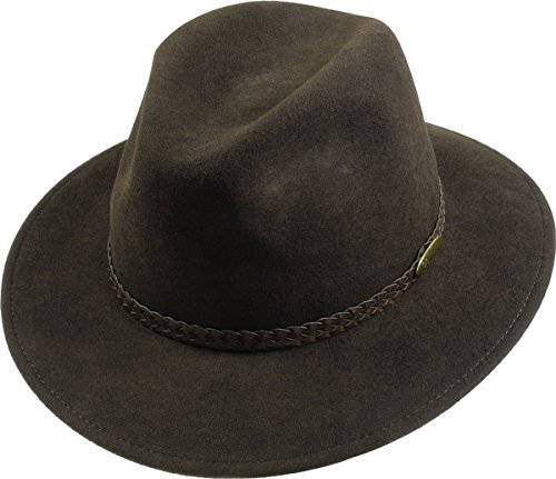 rollbarer Hut in 3 Farben, Kopfgroesse: 60, Braun