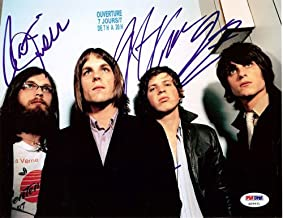 Kings of Leon Signed 8x10 Photo Caleb Followill Mathew Followill Jared Followill and Nathan Followill - PSA/DNA Authentication - Celebrity Autographs