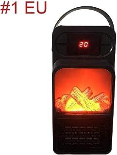 Covok - Calefactor de 500 W, ventilador de mesa negro, termostato ajustable, protección contra sobrecalentamiento, compacto y elegante, para oficina o casa 500W Negro