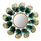 ZHYLOVE Espejo De Pared Decorativo Redondo, Espejo De Pared con Forma De Cuenco, Boho Chic, Étnico, Nórdico, para Baño O Recibidor (73Cm)