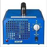 Generador de ozono profesional 3000 a 7000mg / h, 3.5 a 7g / h temporizador ajustable generador de ozono purificador de aire perfecto para su automóvil, desinfección la cocina, reducir el olor, Azul