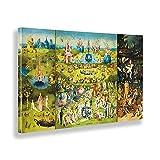 Giallobus - Pinturas - Hieronymus Bosch - El Jardin de Las delicias - Lienzo - 100x60 - Listo para Colgar - Cuadros Modernos para el hogar