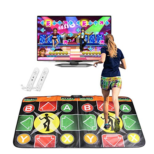 YUWEX Individuell Doppelte Tanzdecke Multifunktions Musikmatte für Kinder Erwachsene Spiel Tanz Schaum-Spielmatten unterstützt Fernsehcomputer mit USB-Stecker (Einschließlich 63 Spiele und 100 Songs)