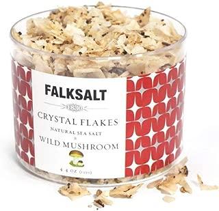 FALKSALT Wild Mushroom (Porcini) Sea Salt Flakes 9 Options - 4.4oz Great for Meat, Poultry, Seafood, Veggies. Use to Marinate or Premium Finishing Salt