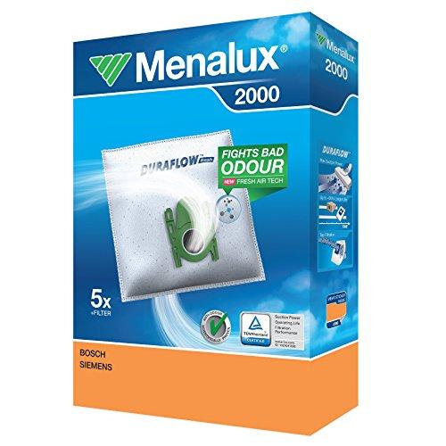 Menalux 2000 - Pack de 5 bolsas sintéticas y 1 filtro para
