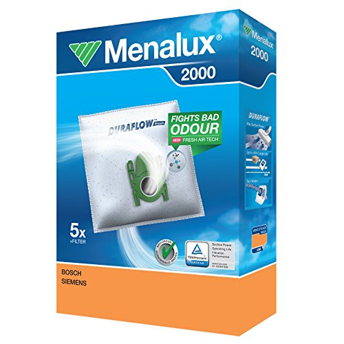 Menalux Lot de 5 Sacs Aspirateur 2000 1 Micro Filtre Inclus