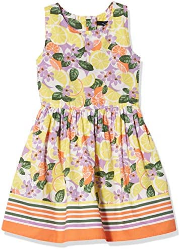 Nautica Girls Patterned Sleeveless Dress Floral Limelight L12 14 product image