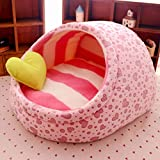 AMURAO Warm Princess Pet Home Bed Nido de Perro Small Cat House Kennel Cute Slipper Design Cojín Lavable para Mascotas