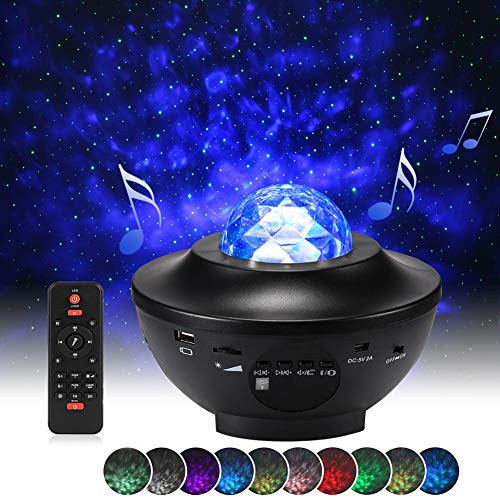 Star Projector Night Light, Delicacy Sky Laser Ocean Wave Starry Projector with Bluetooth...