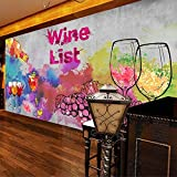 CSZBH Mural 3D Self-Adhesive Wallpaper (W) 250X (H) 175Cm Winery Hand-Painted Red Wine 3D Wallpaper Living Room Bedroom Children'S Room Office Tv Background Wall Paper 3D Mural Wall Art