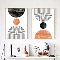 ウォールアート2ピース40x60cmフレームなしニュートラル抽象的な幾何学的なポスタープリントモダンウォールアートギャラリー壁の写真リビングルームの家の装飾