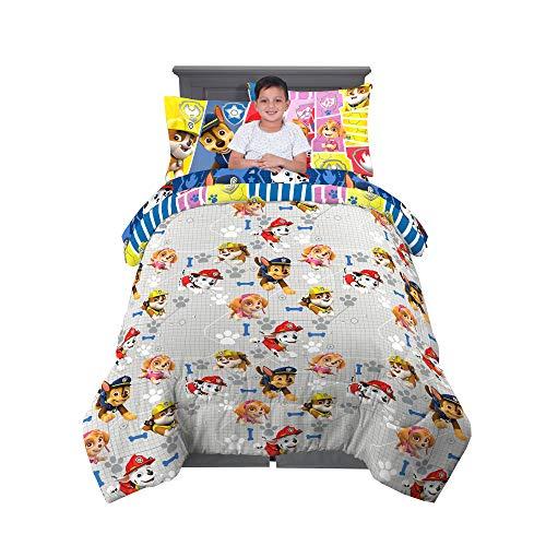 Franco Kids Bedding Juego de sábanas y edredón súper Suave con Funda de Almohada, 5 Piezas tamaño Individual, Paw Patrol