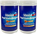 Bosh Chemical Vanish Pool & Spa Stain Remover 2 Pack (4LBS)- Natural Safe Citrus Based, Works Excellent on Vinyl, Fiberglass, and Metals, Removes Rust and Other Tough Stains