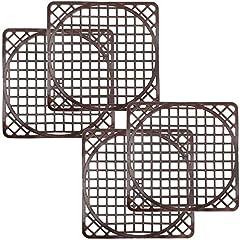 com-four® 4 Spülbeckenmatten universal, Spülmatte