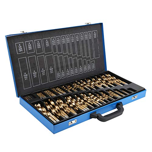 230Pcs Drill Bits, for Stainless Steel and Hard Metal, Industry Tool Metric Index Drill Bit Set,
