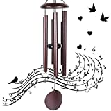 Afirst Large Wind Chimes Outdoor Deep Tone, 36 Inch Sympathy Wind Chimes with 6 Big Tubes - Best Metal Musical Windchime Outdoor and Home Decoration, Copper Vein