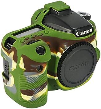 First2savvv XJPT-70DGJ-06 gr/ün Silikon TPU Gummi Ganzk/örper pr/äzise Passform Kameratasche Fall Tasche Cover f/ür Canon EOS 70D