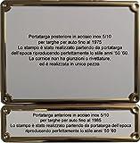 Coppia Portatarga Cornice IN ACCIAIO INOX per targhe d'epoca storiche fino 1975